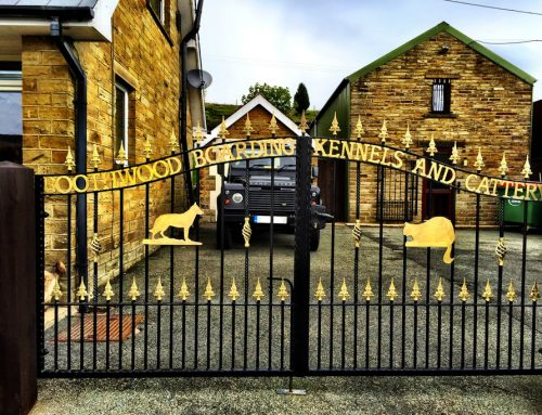 Boothwood Boarding Kennels & Cattery gates
